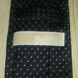 Michael Kors Black & Silver Slim Silk Tie